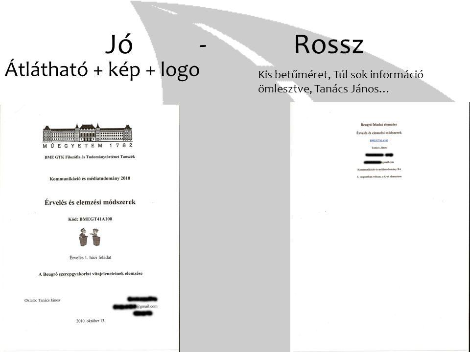 Jó - Rossz Átlátható + kép + logo