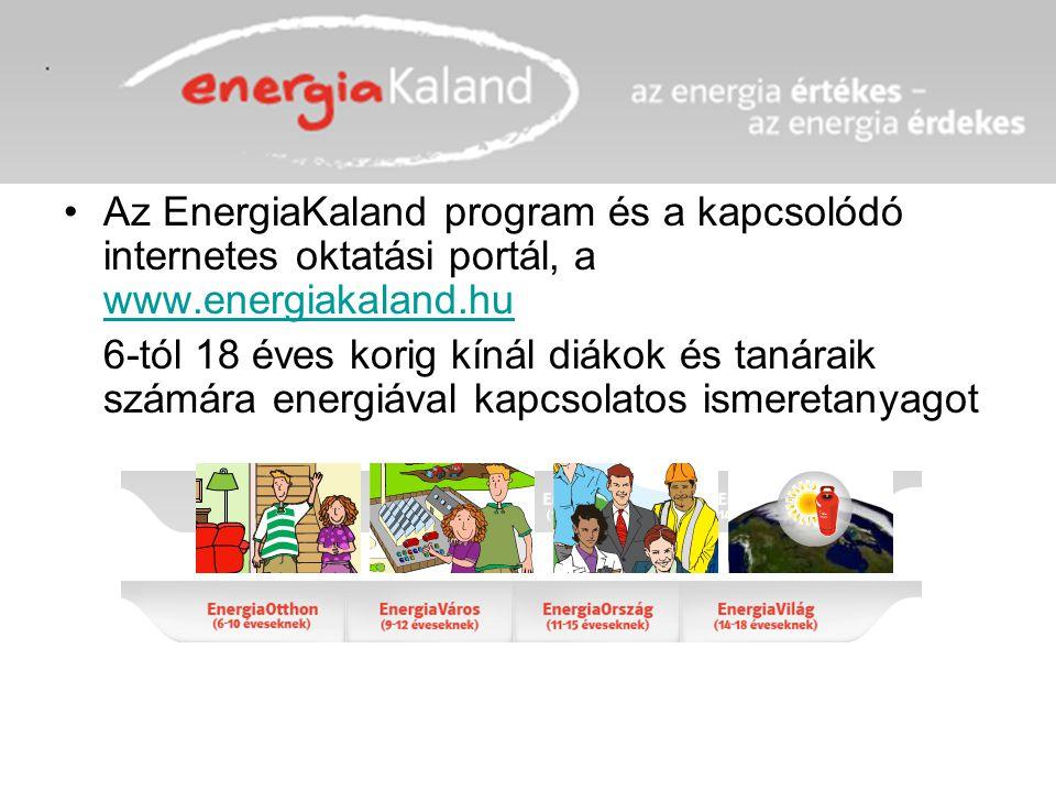 Az EnergiaKaland program és a kapcsolódó internetes oktatási portál, a www.energiakaland.hu