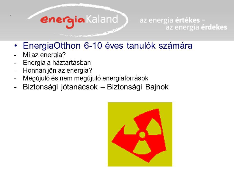 EnergiaOtthon 6-10 éves tanulók számára