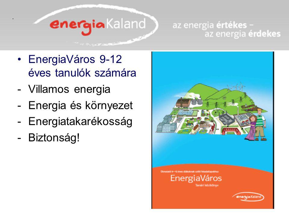 EnergiaVáros 9-12 éves tanulók számára