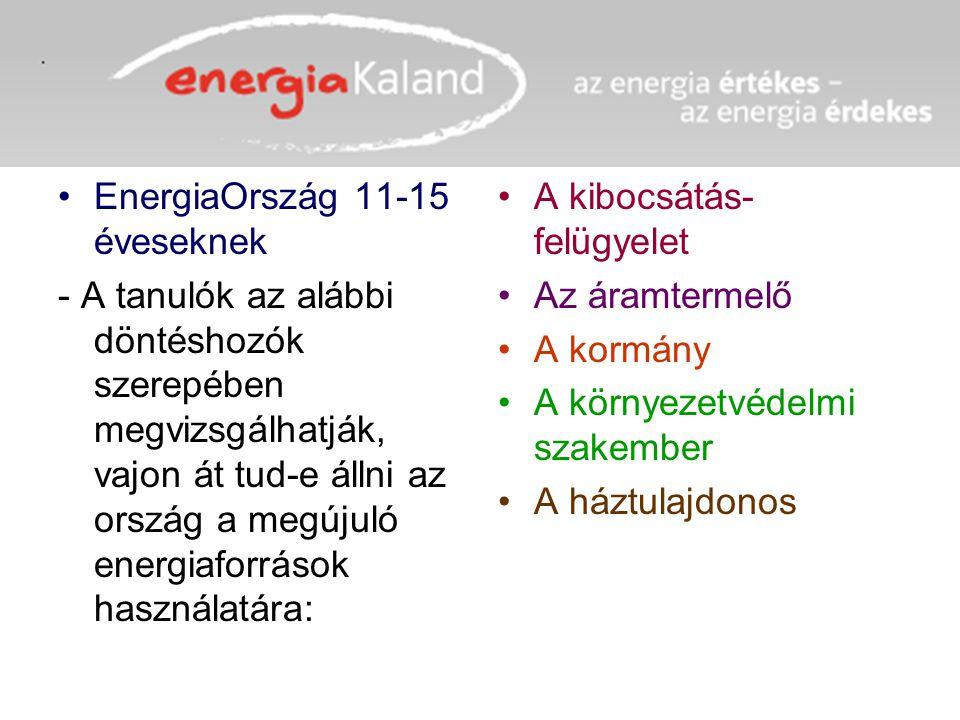 EnergiaOrszág 11-15 éveseknek