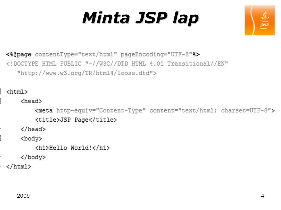 Minta JSP lap 2009