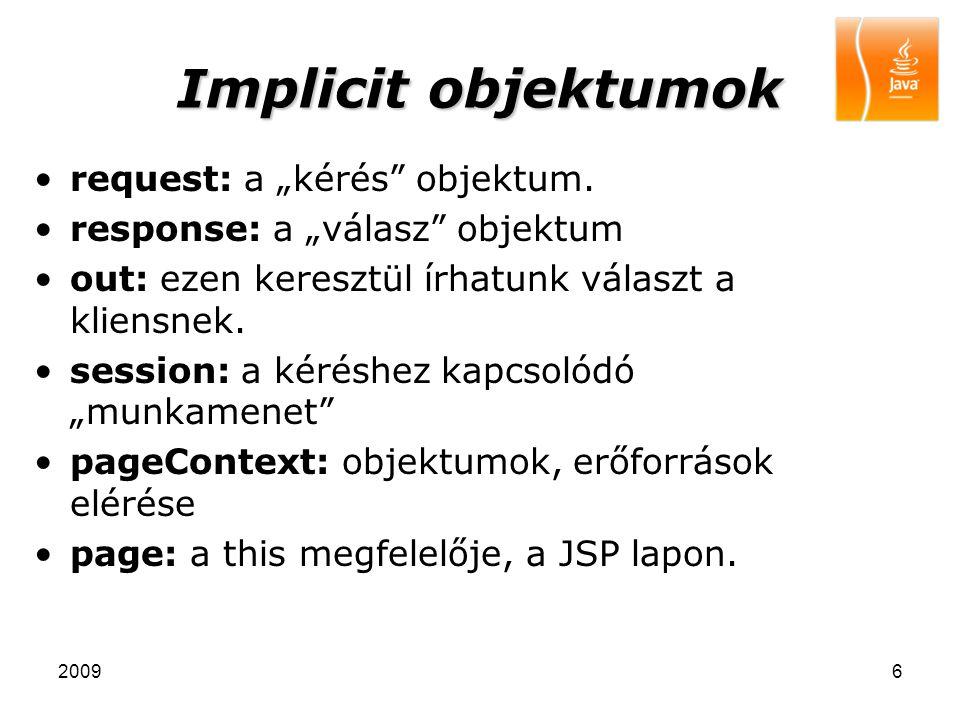 """Implicit objektumok request: a """"kérés objektum."""