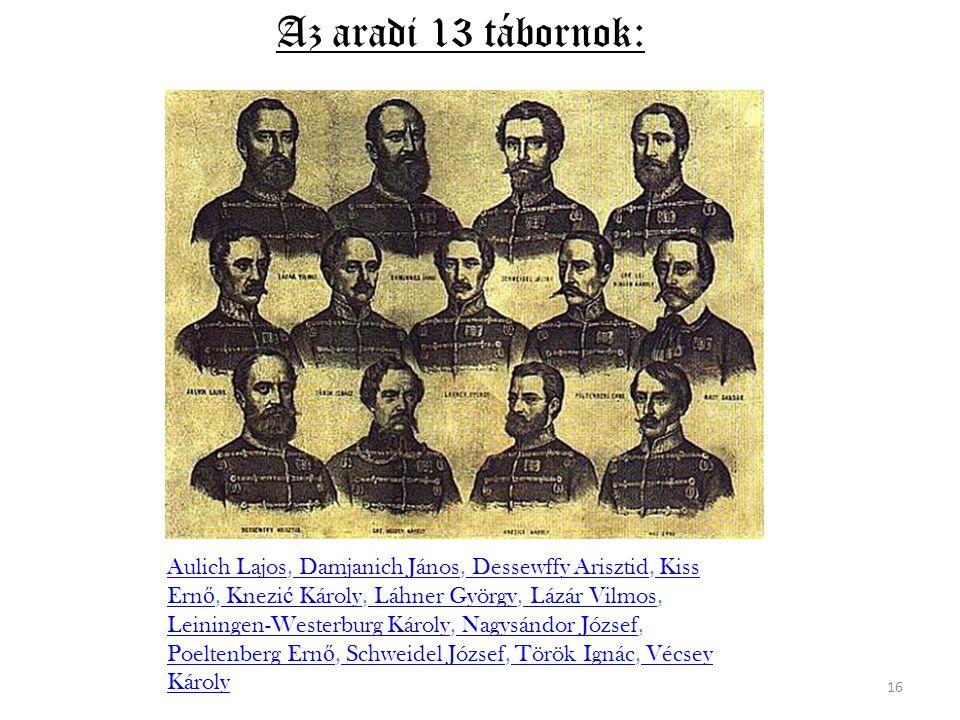 Az aradi 13 tábornok: