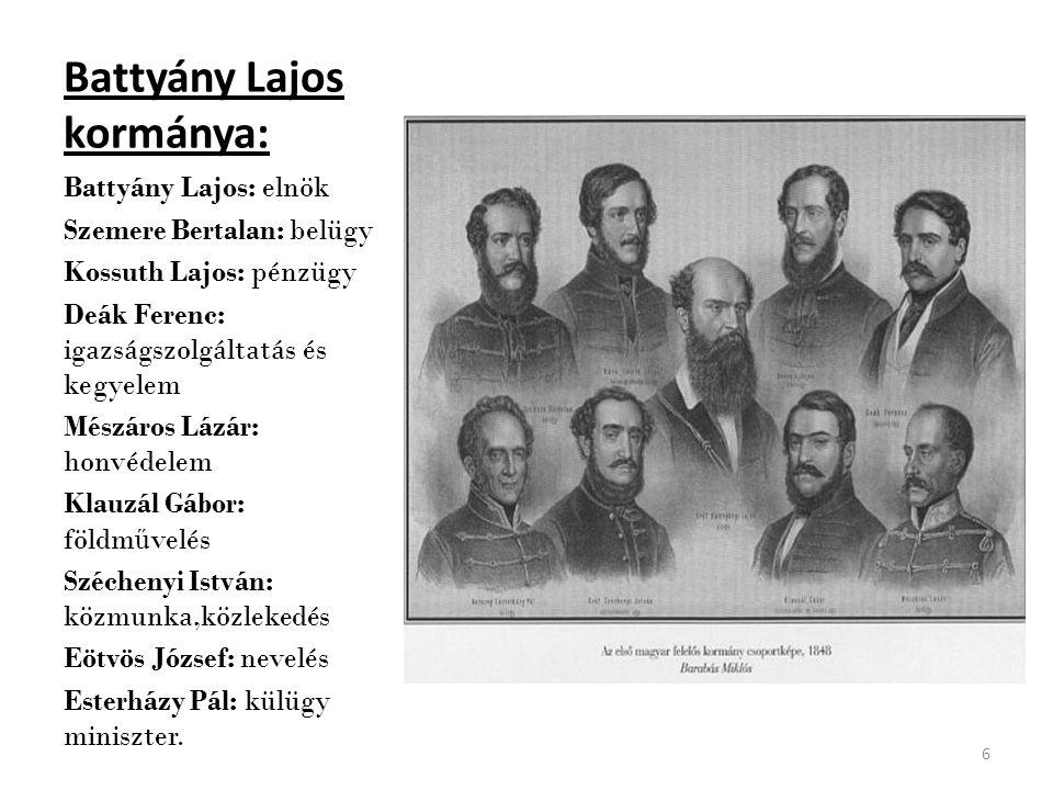 Battyány Lajos kormánya: