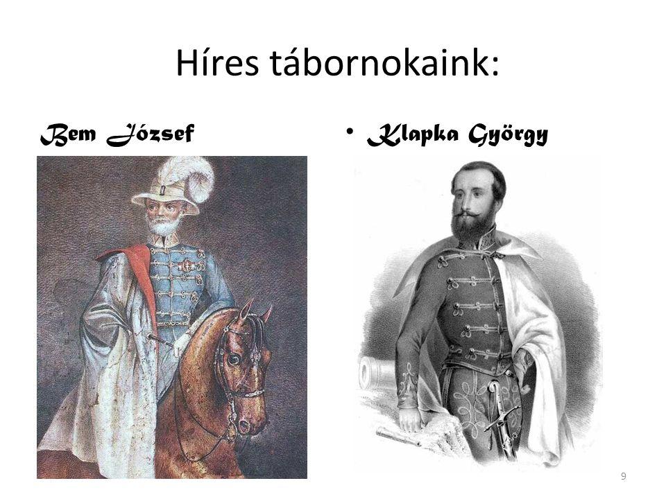 Híres tábornokaink: Bem József Klapka György