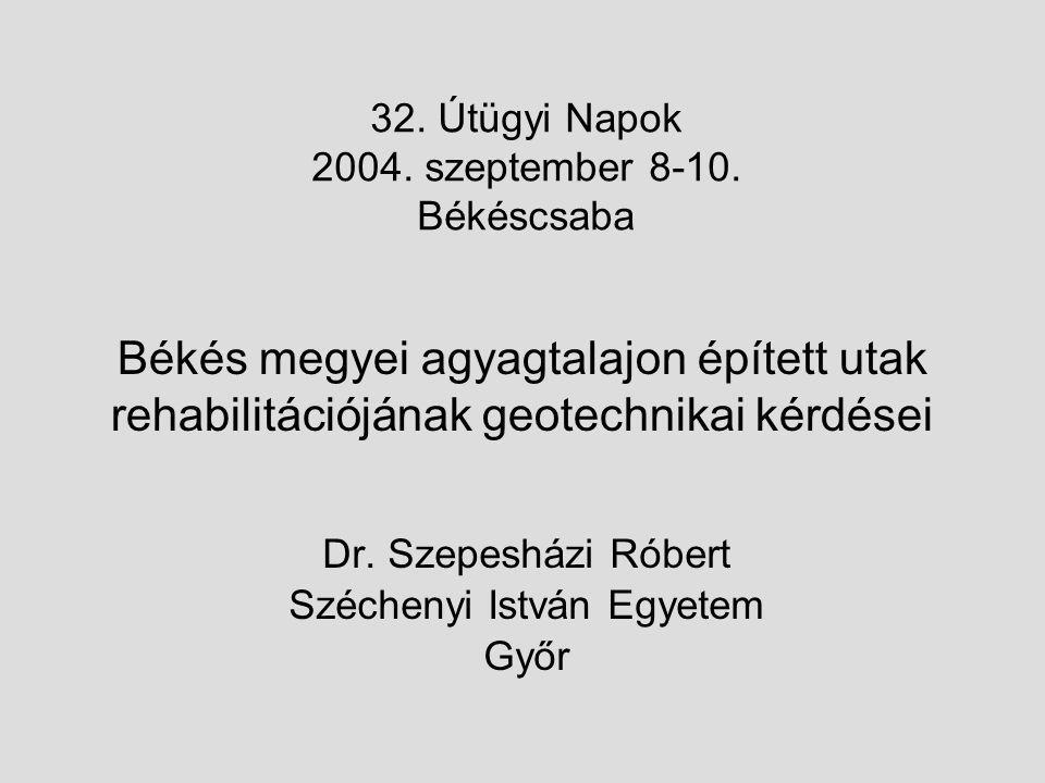 Dr. Szepesházi Róbert Széchenyi István Egyetem Győr
