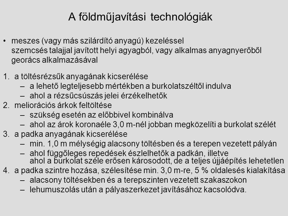 A földműjavítási technológiák