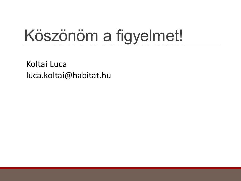 Köszönöm a figyelmet! Köszönöm a figyelmet! Koltai Luca