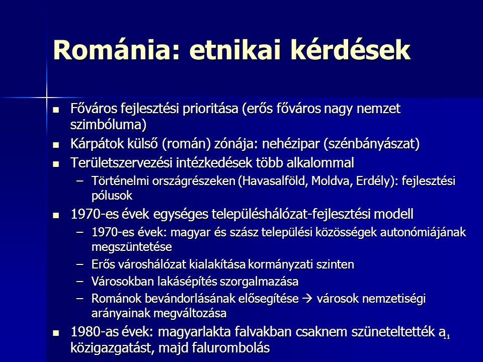 Románia: etnikai kérdések
