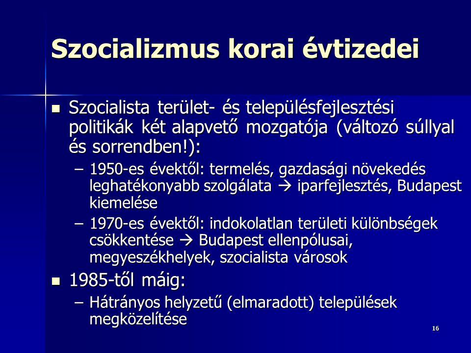 Szocializmus korai évtizedei
