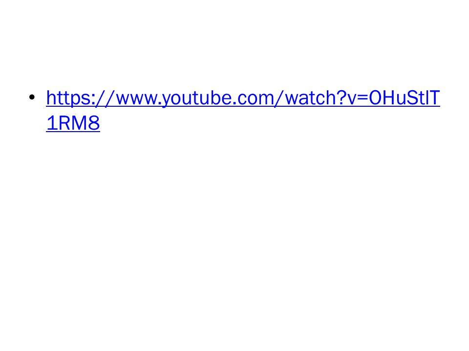 https://www.youtube.com/watch v=OHuStlT1RM8