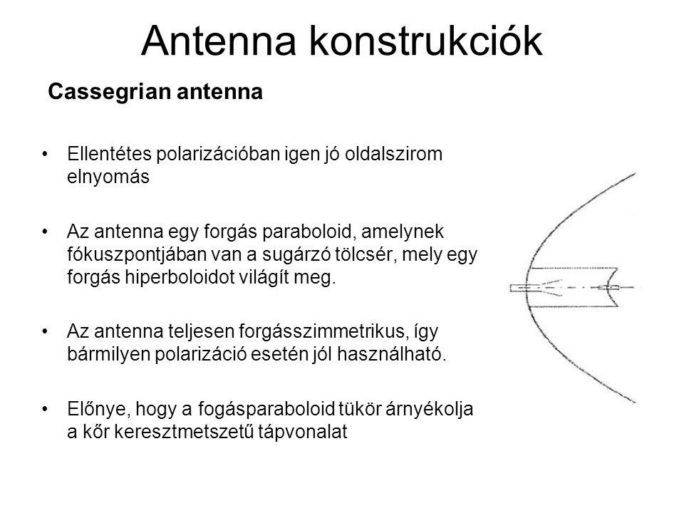 Antenna konstrukciók Cassegrian antenna