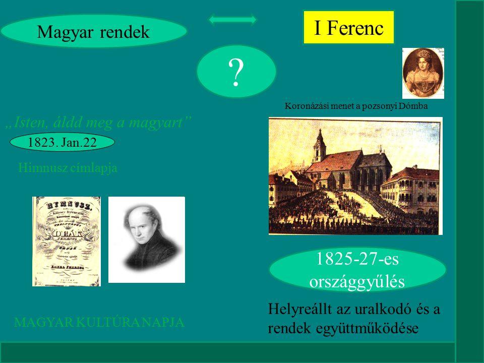 I Ferenc Magyar rendek 1825-27-es országgyűlés