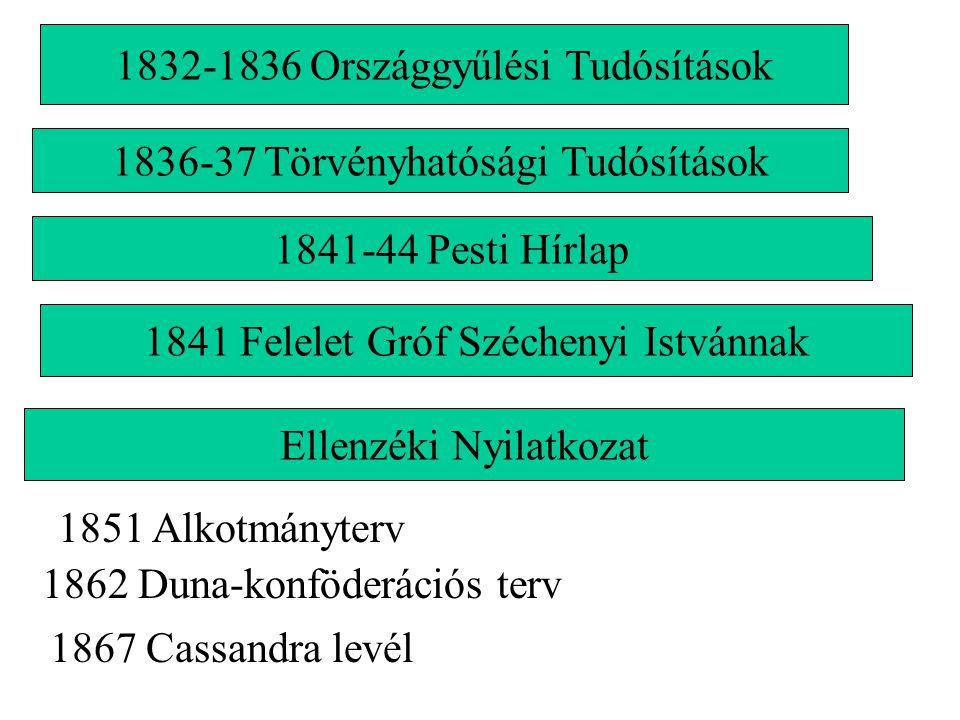 1832-1836 Országgyűlési Tudósítások
