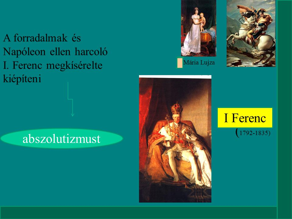 I Ferenc (1792-1835) abszolutizmust