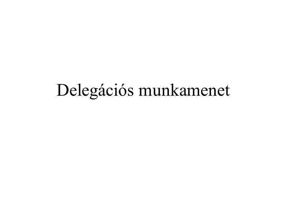 Delegációs munkamenet