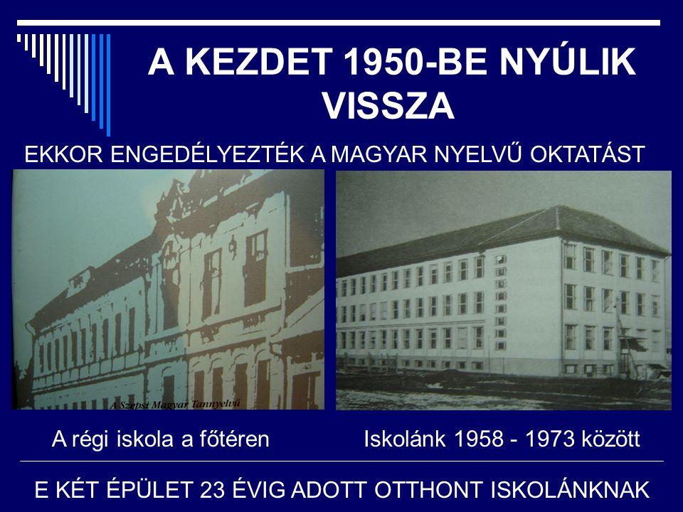 A KEZDET 1950-BE NYÚLIK VISSZA