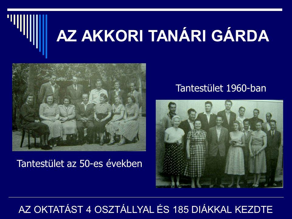 AZ AKKORI TANÁRI GÁRDA Tantestület 1960-ban