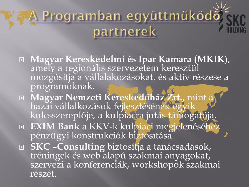 A Programban együttműködő partnerek