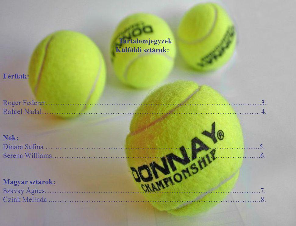 Tartalomjegyzék Külföldi sztárok: Férfiak: Roger Federer……………………………………………………………………….…….3. Rafael Nadal………………………………………………………………………………4.