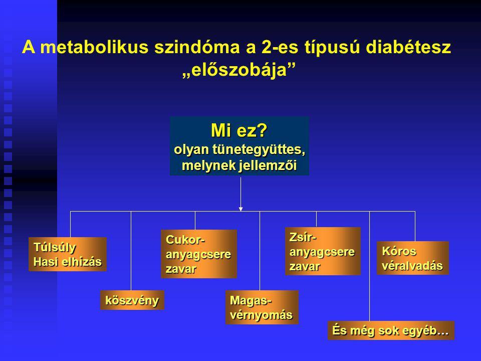 A metabolikus szindóma a 2-es típusú diabétesz