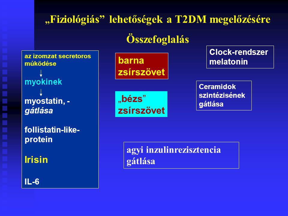 """""""Fiziológiás lehetőségek a T2DM megelőzésére"""