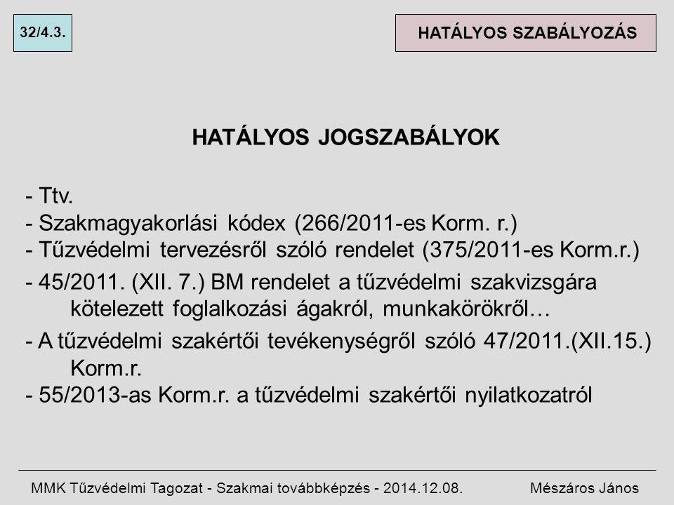 HATÁLYOS JOGSZABÁLYOK