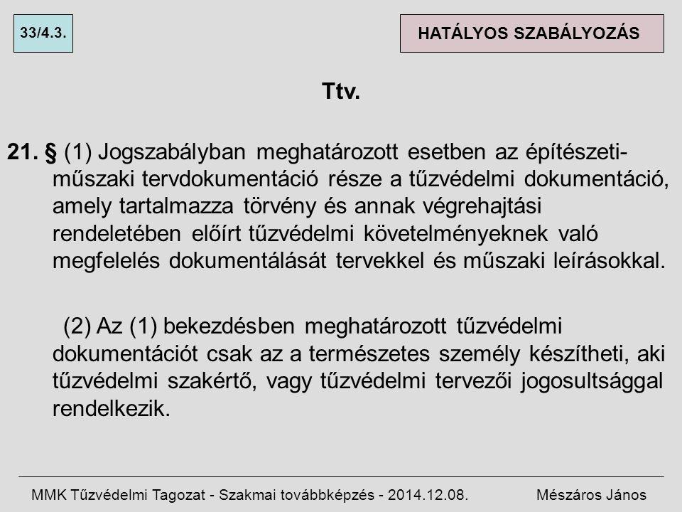 33/4.3. HATÁLYOS SZABÁLYOZÁS. Ttv.