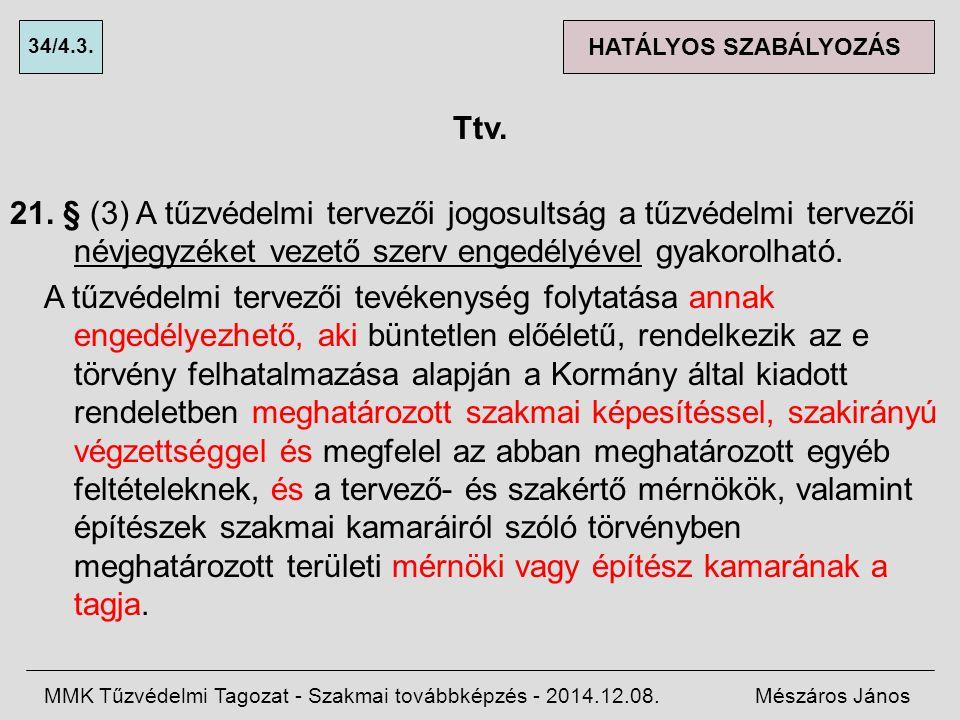 34/4.3. HATÁLYOS SZABÁLYOZÁS. Ttv.