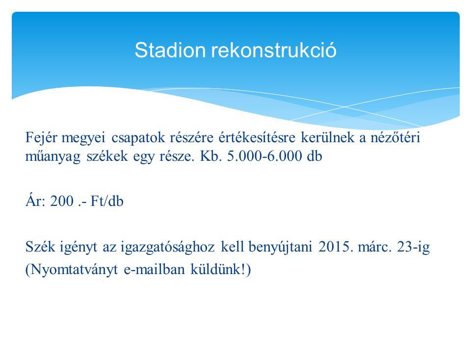 Stadion rekonstrukció