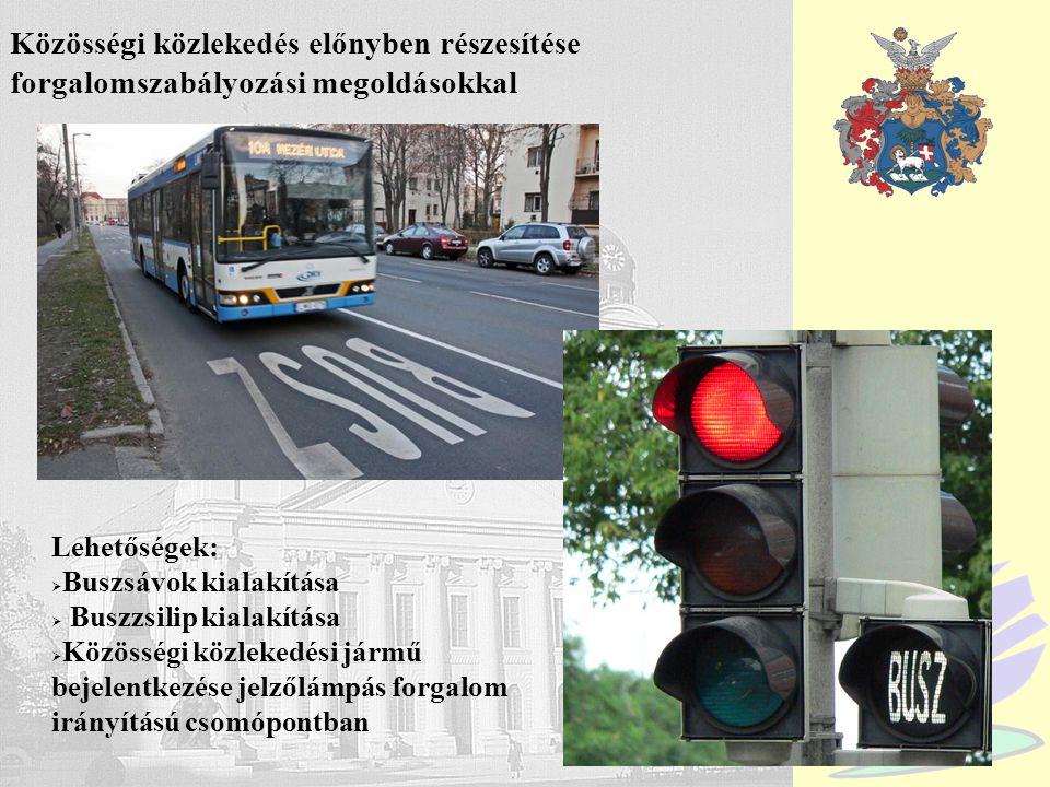 Közösségi közlekedés előnyben részesítése