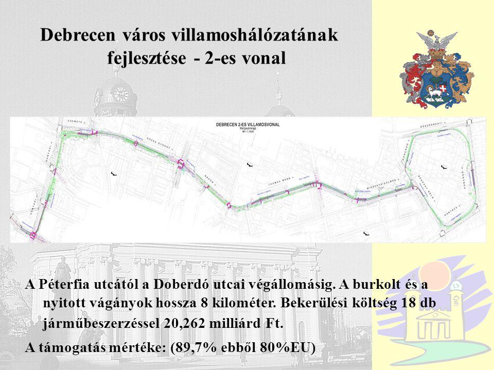Debrecen város villamoshálózatának fejlesztése - 2-es vonal