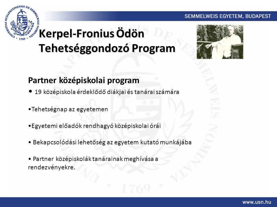 Kerpel-Fronius Ödön Tehetséggondozó Program