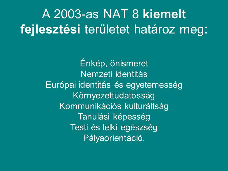 A 2003-as NAT 8 kiemelt fejlesztési területet határoz meg: