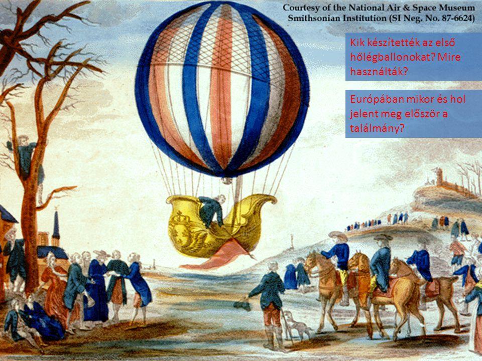 Kik készítették az első hőlégballonokat Mire használták