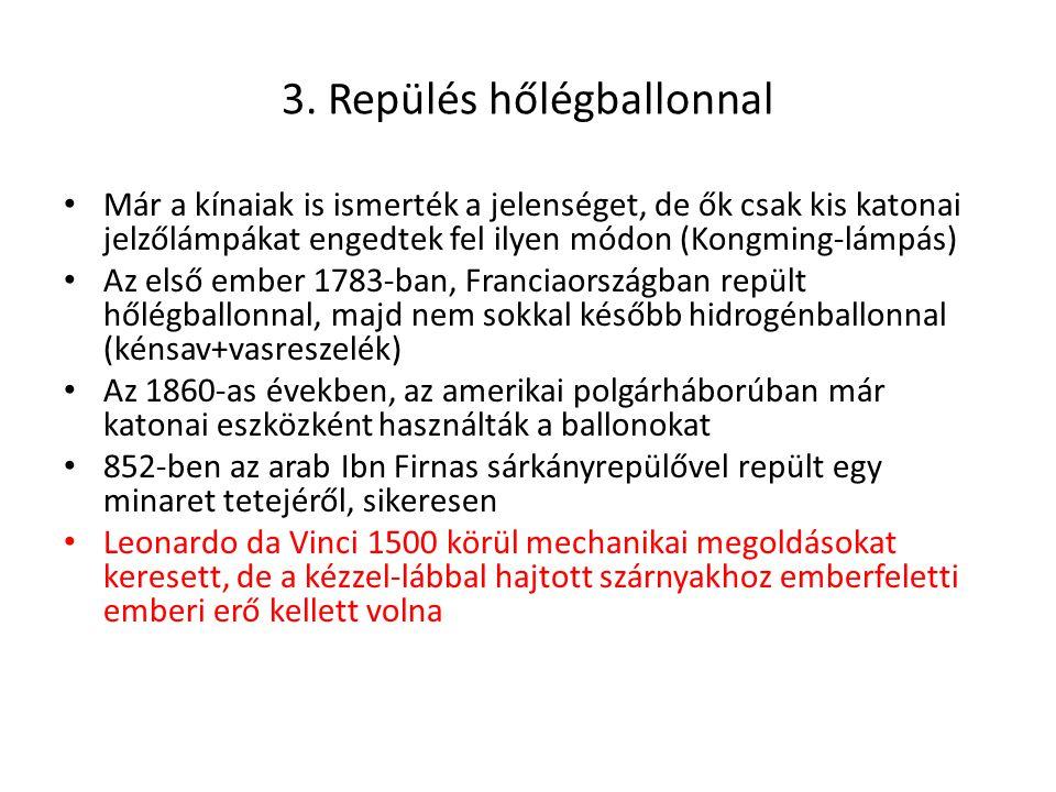 3. Repülés hőlégballonnal