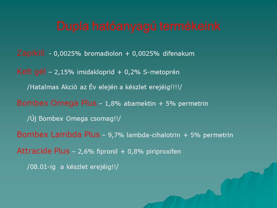 Dupla hatóanyagú termékeink