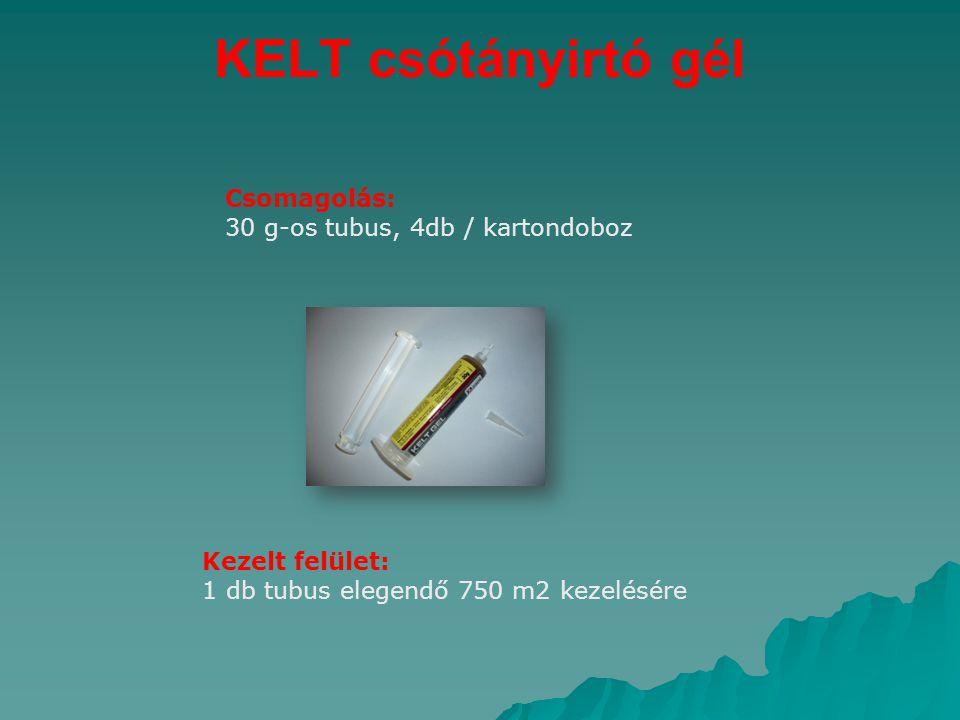 KELT csótányirtó gél Csomagolás: 30 g-os tubus, 4db / kartondoboz