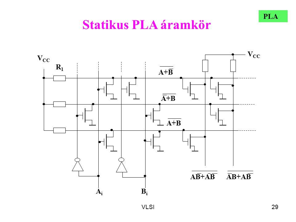 Statikus PLA áramkör PLA A+B VCC Ai Bi AB+AB R1 VLSI