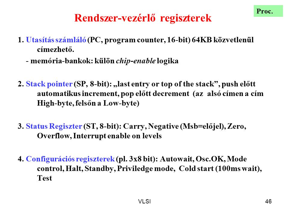 Rendszer-vezérlő regiszterek