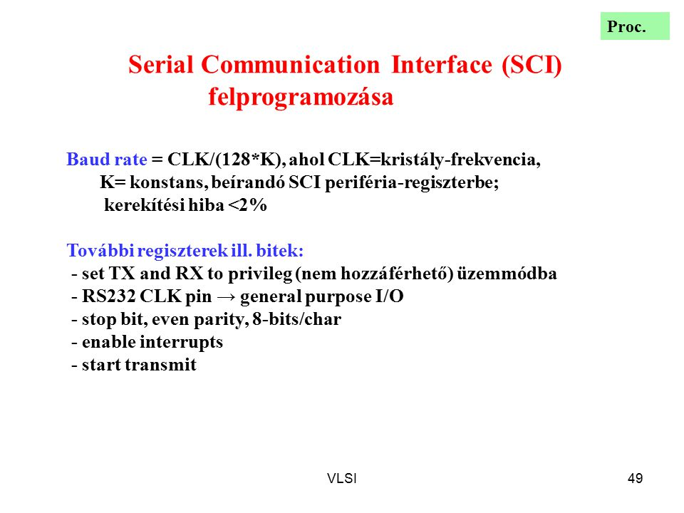 Serial Communication Interface (SCI) felprogramozása