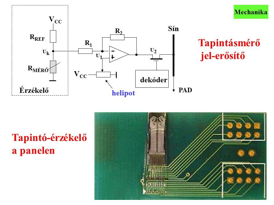 Tapintásmérő jel-erősítő Tapintó-érzékelő a panelen VCC Sín VCC