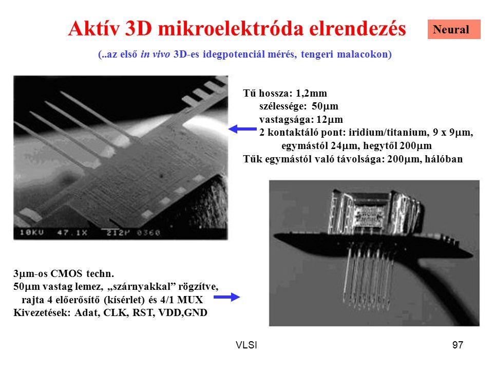 Aktív 3D mikroelektróda elrendezés