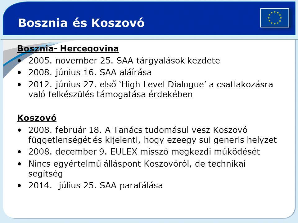 Bosznia és Koszovó Bosznia- Hercegovina
