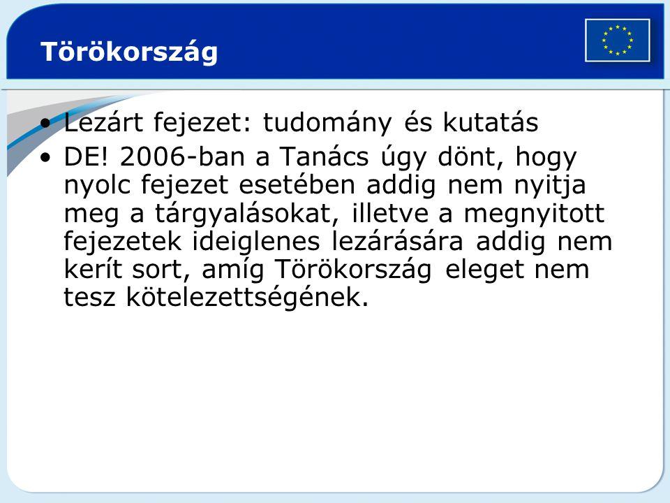 Törökország Lezárt fejezet: tudomány és kutatás.