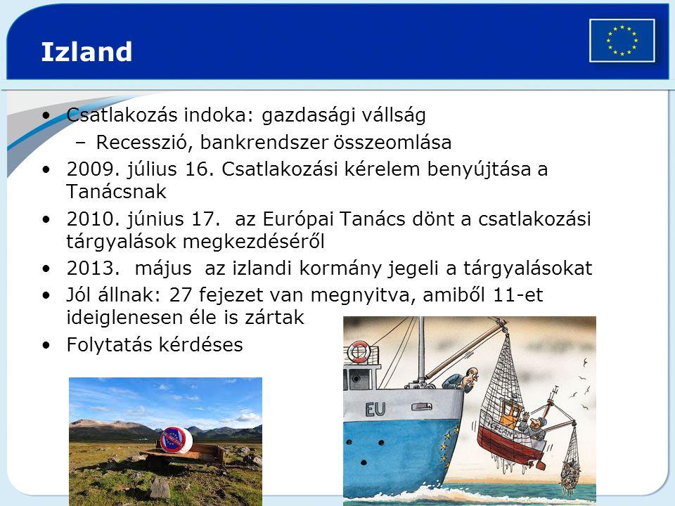 Izland Csatlakozás indoka: gazdasági vállság