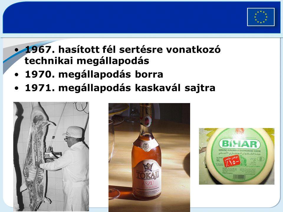 1967. hasított fél sertésre vonatkozó technikai megállapodás