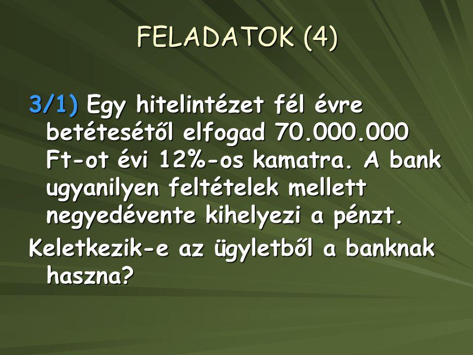 FELADATOK (4)