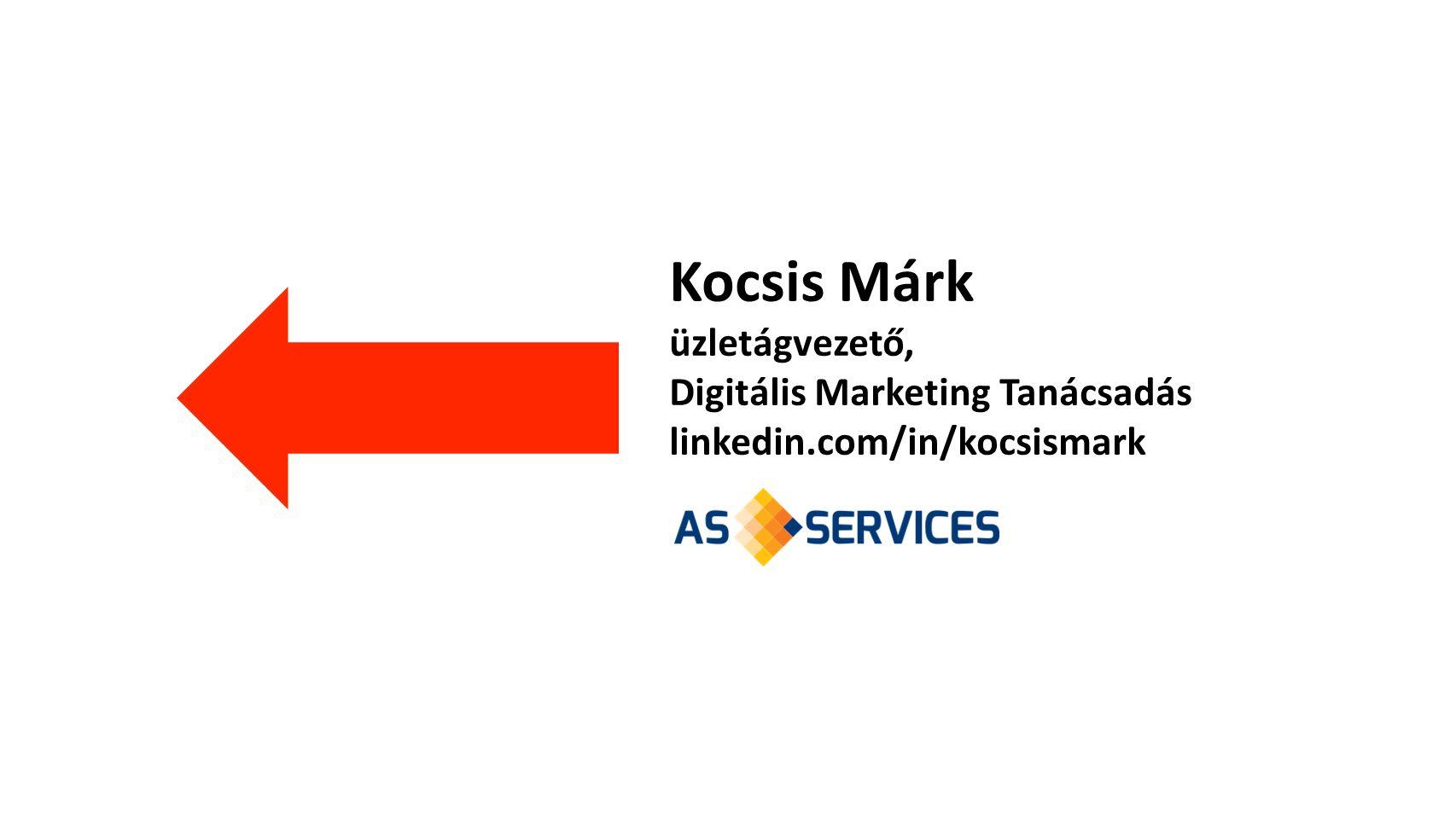 Kocsis Márk üzletágvezető, Digitális Marketing Tanácsadás